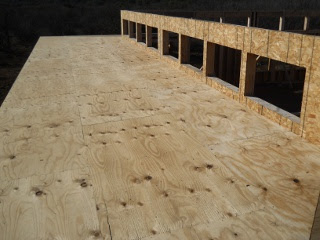 Porch Rafters Plywood Complete Top View