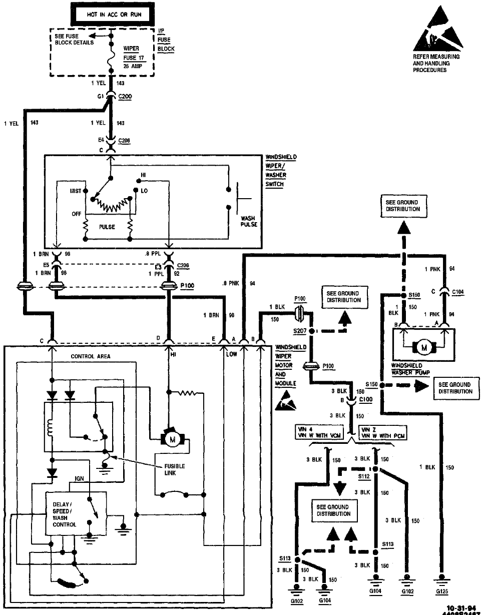 Windshield Wiper Motor Wiring Diagram - Diagram Stream