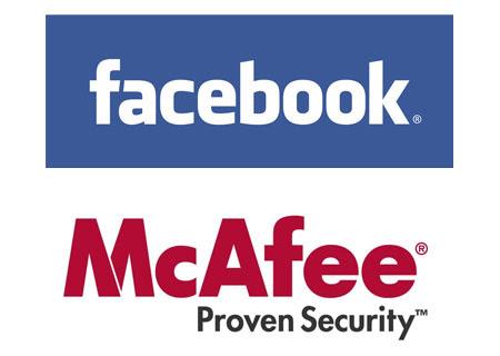 logo facebook security. Facebook McAfee logo