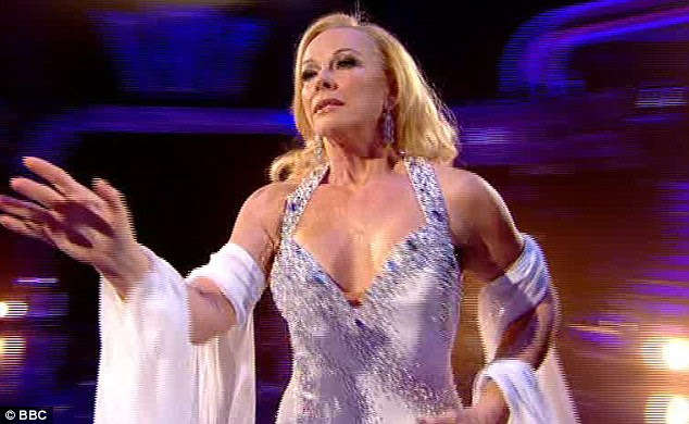 Beautiful: Pamela and James also performed the Viennese Waltz, which earned them top marks from the judges