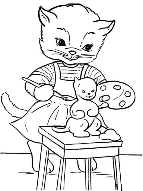 cats coloring pages   print cats coloring pages