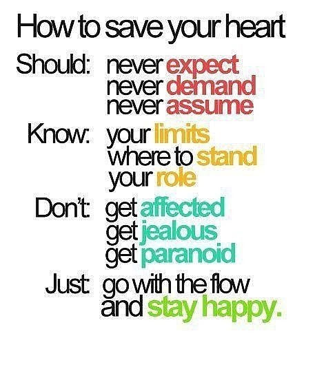 How To Save Your Heart Quote Picture