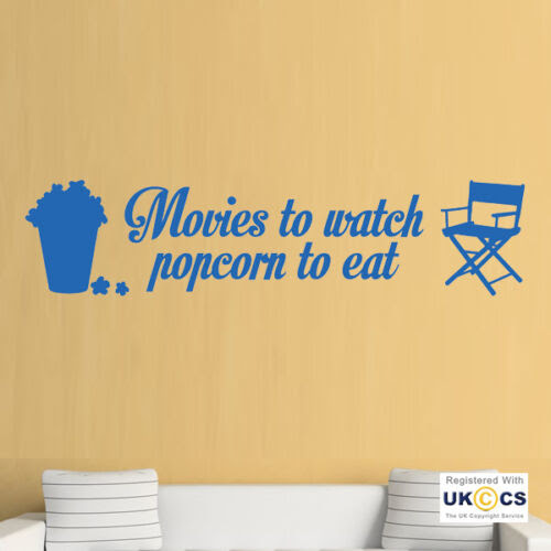 Home Decor Items Cinema Popcorn Film Movies Quote Living Room Wall Art Stickers Decals Vinyl Home Home Furniture Diy Breadcrumbs Ie