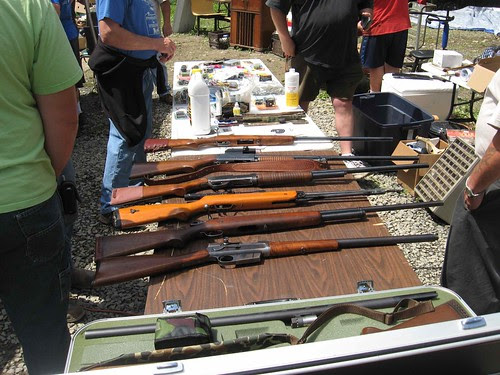 Guns for sale at the auction
