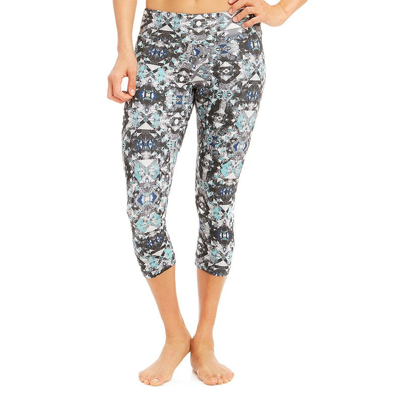 Women's Balance Collection Flat-Waist Capri Yoga Leggings, Size: XL, Med Blue