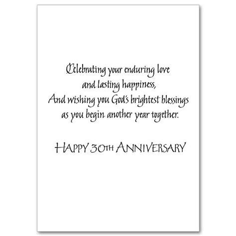 Congrats on Your Marriage of 30 Years: 30th Wedding