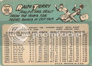 #406 Ralph Terry (back)