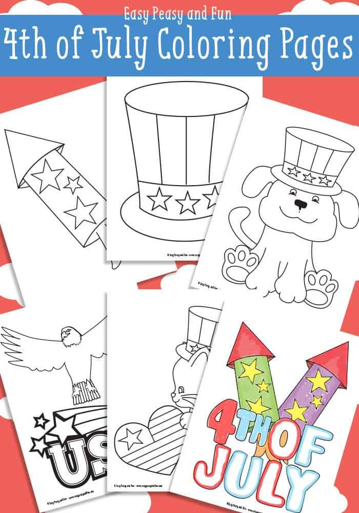 FREE 4th of July Coloring Pages - Homeschool Giveaways