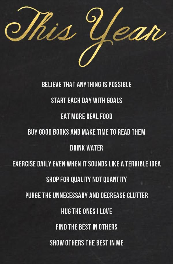 2014 To-Dos...I don't believe in resolutions rather a commitment to a plan for better living everyday