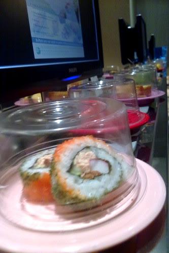 On the sushi belt