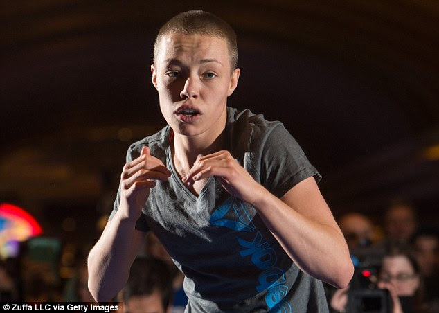 Sporting a close cropped haircut, Rose Namajunas also went through a few moves for the crowd