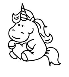 cute unicorn kawaii coloring page coloring page  unicorn coloring pages