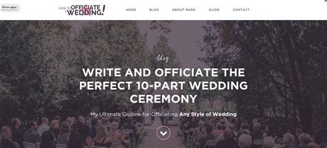 Write and Officiate the Perfect 10 Part Wedding Ceremony