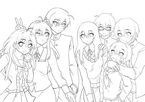 anime template  drawing  getdrawingscom