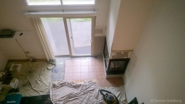 new, drywall in place, tile started
