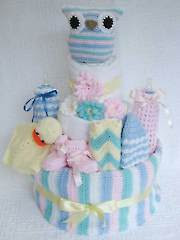 Owl Nappy Cake - Electronic Download