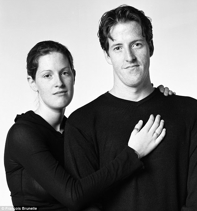 Across the gender gap: Sarah Fournier (left) and Alan Madill in Toronto in 2005 look extremely alike but are not brother and sister
