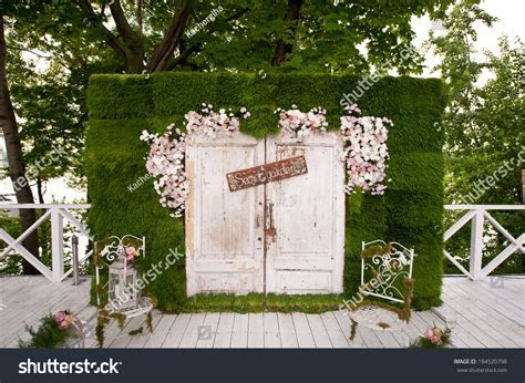Wedding Photobooth Decoration Stock Photo 184520798