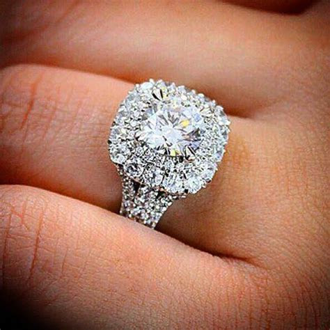 25  best ideas about Double halo rings on Pinterest   Rose