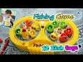 Mancing 12 Ikan Mainan Lucu Warna-warni ❤ Fishing fish toys colorful ❤ Fishing Game ❤ Kids play