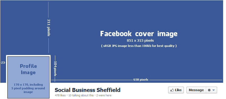 facebook cover page size - 863×378