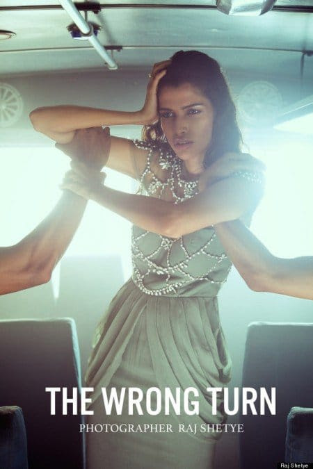"The fashion shoot entitled ""The Wrong Turn"" by photographer Raj Shetye does what the fashion industry loves to do : Making abuse fashionable. This photoshoot is clearly inspired by the 2012 gang rape that occured in a bus in New Delhi which led to the death of the victim."