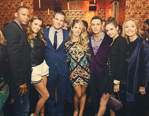 The Arrow cast at The CW Upfronts After Party 2013 [x]