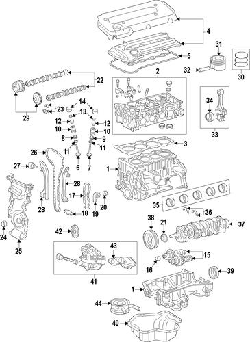 Wiring Diagram  35 2002 Toyota Camry Parts Diagram