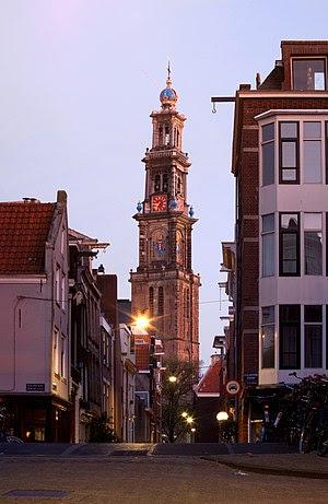 A view from the Jordaan neighborhood towards t...