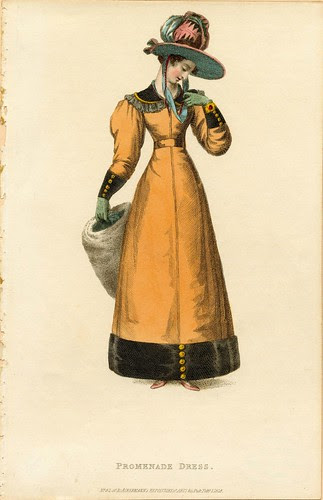 Promenade dress, Winter 1828