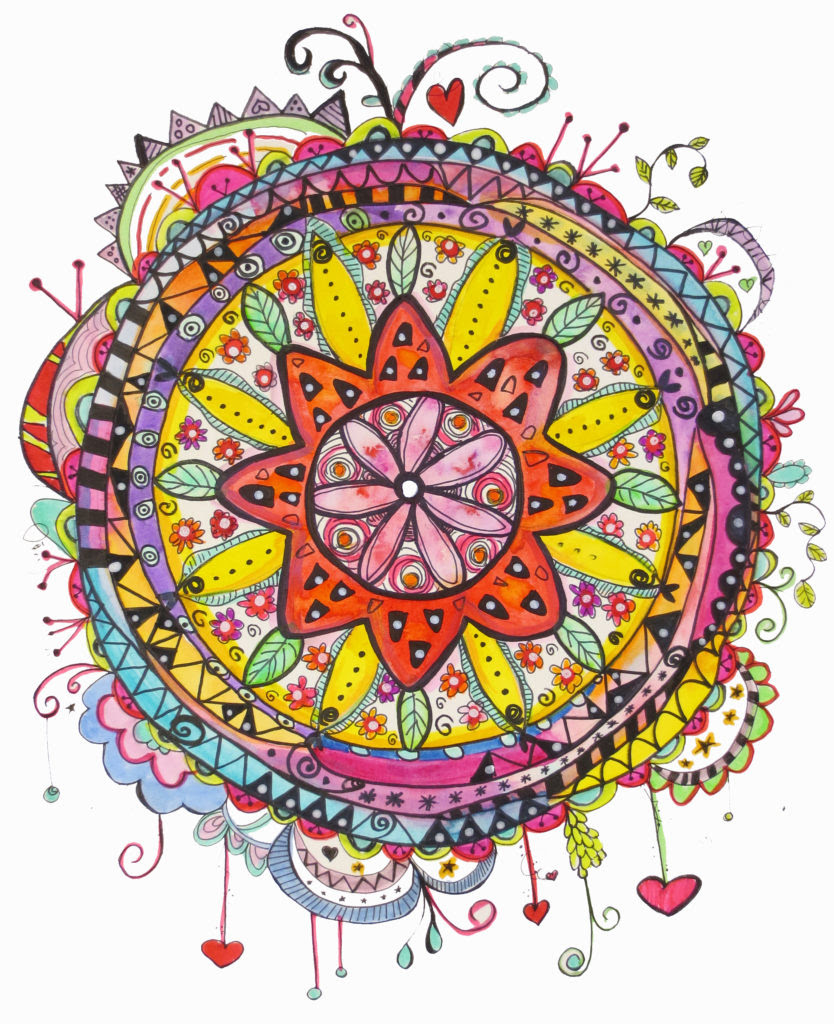 Finished Watercolor Mandala