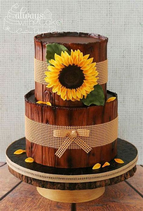 203 best Sunflower Cakes images on Pinterest   Pretty