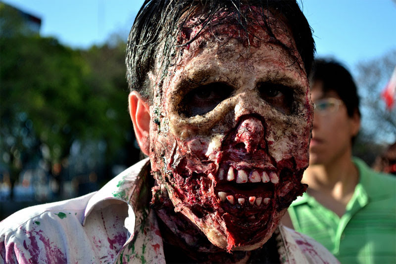10. Full face zombie makeup. Photo by Ramiro Moyano