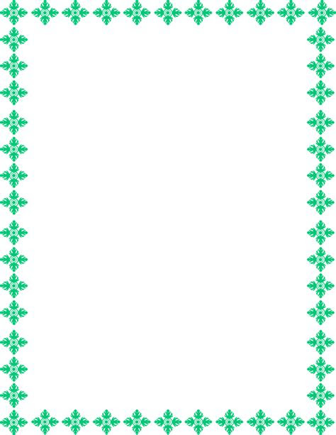 teal border frame transparent background hq png