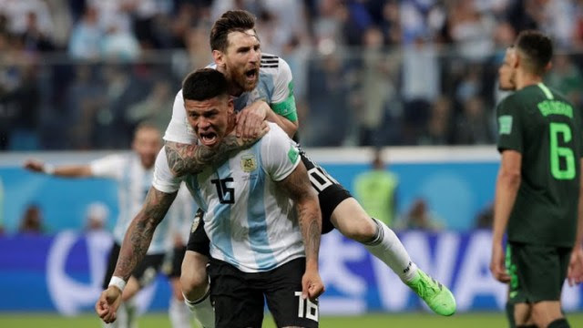 World Cup 2018: Argentina defeats Nigeria 2 goals to 1