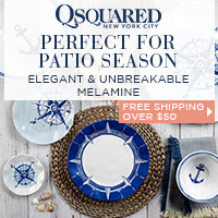Free Shipping Over $50 | Q Squared NYC Portsmouth Melamine Dinnerware