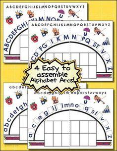 Lower Case Letter Alphabet Arc Mat   Letter recognition, Plastic ...