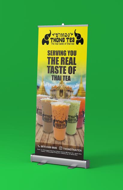 Contoh X Banner Minuman - desain spanduk keren