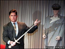 Department of Justice official with sword and uniform of Goering seized from drug dealer