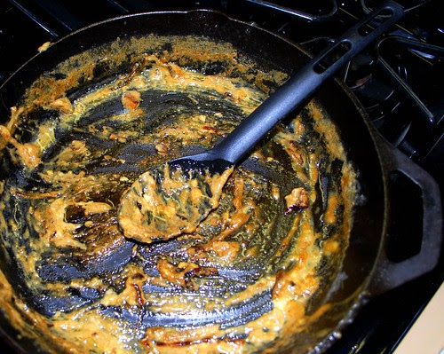 Rib Eye with Blue Cheese Onion empty pan