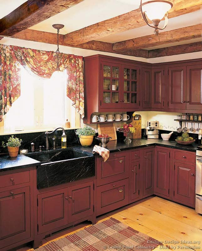 Pictures Of Kitchens Traditional Red Kitchen Cabinets Kitchen 2