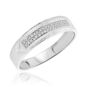 1/15 Carat T.W. Diamond Mens Wedding Band 10K White Gold