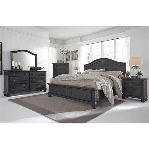 sharlowe  piece queen bedroom set  charcoal nebraska