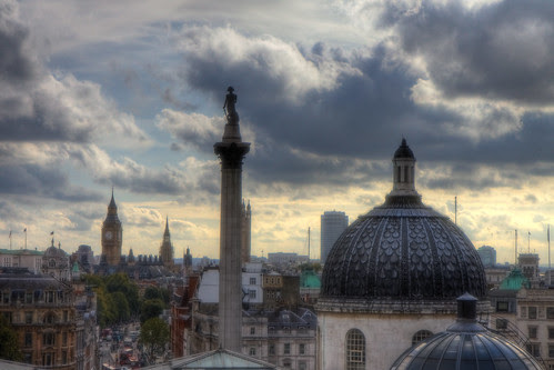 View from National Portrait Gallery London