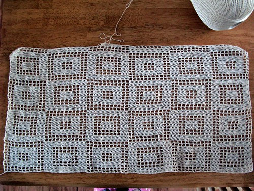 Filet Crochet Curtain