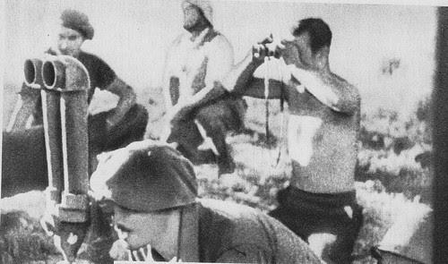 Fuerzas de artillería republicanas disparan contra el Alcázar desde la Dehesa de Pinedo. 22 de julio de 1936