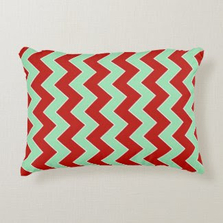 Christmas Zigzag Accent Pillow