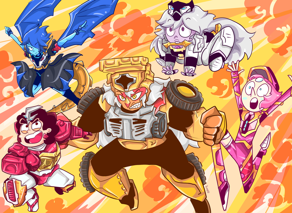 steven universe X Shuriken Sentai Ninninger ninmaru crossover !