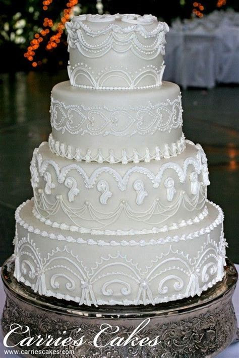 """""""Nanette"""" Royal Icing Lambeth Method Over Piping 4 tier"""