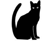 Black Cat - Vinyl Decal - Geekazoid